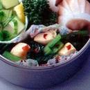 小松菜とささ身のピリ辛炒め