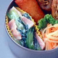 青梗菜とハムのクリーム煮
