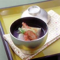 えび、里いも、三つ葉の雑煮