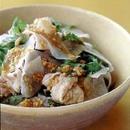 大根と豚しゃぶの中国風サラダ