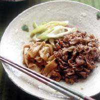 牛肉とねぎのすき煮