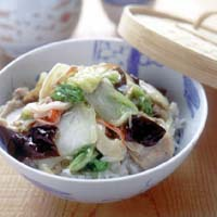 豚肉と白菜の中華丼