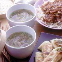 玉ねぎとザーサイのスープ