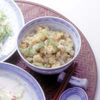 卵とレタスの炒飯
