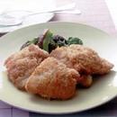 鶏肉のフリット ブロッコリーのソテー添え