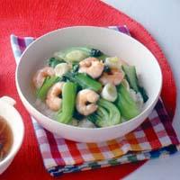 えびと青梗菜の中華丼