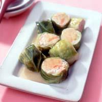 豆腐と鮭のロールキャベツ