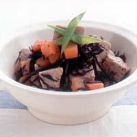 高野豆腐とひじきのミルク煮