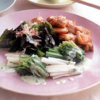 春野菜とチキンのサラダ