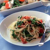 菜の花入りペペロンチーノ