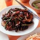 揚げなすと豚肉の中華風甘みそ炒め