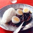ゆで卵といんげんのカレー