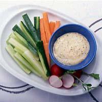スティック野菜のマスタードディップ