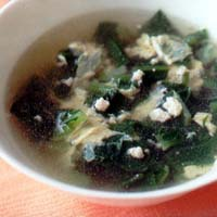 小松菜と卵のスープ