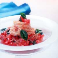 フレッシュトマトの冷たいスパゲティ