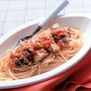 いわしソテーのトマトソーススパゲティ