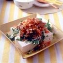 カリカリ豚豆腐 キムチだれかけ