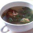クレソンと桜えびのスープ
