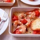 えびとプチトマトのグリル