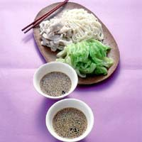 梅風味のつけ麺