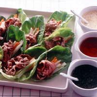 牛しゃぶサラダ 3種のソース