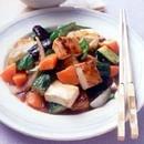 夏野菜と厚揚げの酢豚風