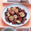 うなぎと夏野菜の甘辛炒め