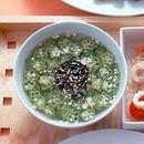 のりとオクラのとろみスープ