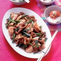 肉と豆腐のプルコギ風