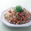 枝豆入り玄米炒飯
