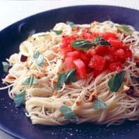 ガーリックトマトパスタ