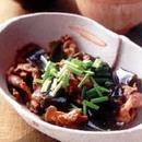 豚薄切り肉と昆布の煮もの