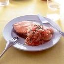 鮭のステーキ トマトソース