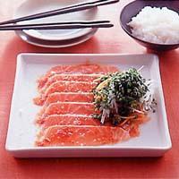 鮭の韓国風カルパッチョ