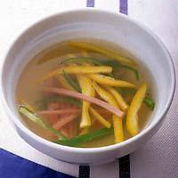 ピーマンとハムのスープ