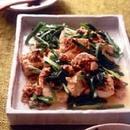 豆腐とひき肉の甘辛炒め