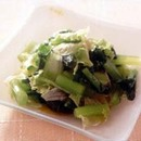 かぶの葉とレタスのサラダ