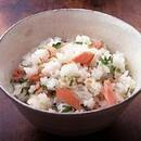 鮭と三つ葉の混ぜご飯