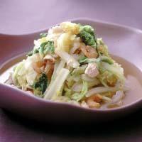 白菜と干しえびの煮びたし