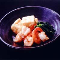 豆腐とえびの揚げ出し風