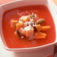かぼちゃといんげんのトマトスープ