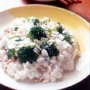 ブロッコリーの卵白炒め