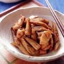 ごぼうと鶏肉のおかか煮