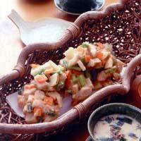 鶏肉と野菜のかき揚げ