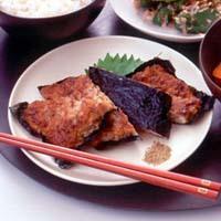 豆腐とひき肉のかば焼き