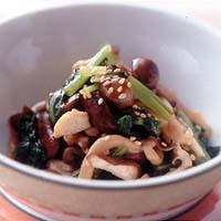 小松菜ときのこの中華風あえ