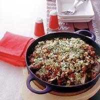 豆腐とひき肉の中華風グラタン