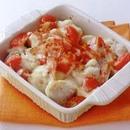 里いもとトマトのチーズグラタン
