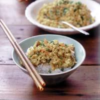豆腐のカレーじょうゆ炒め
