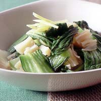 青梗菜と帆立ての煮びたし